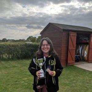 Teresa taking home first place at the Bill Tucker Memorial Shoot in Colchester.